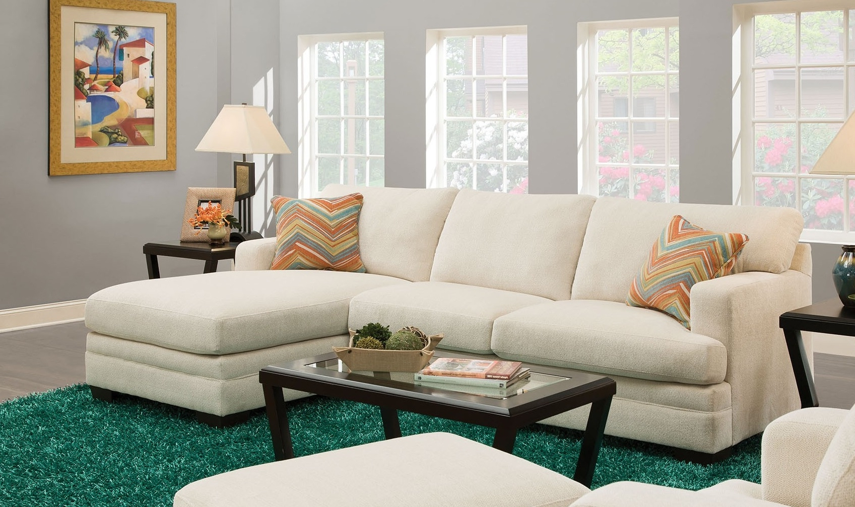 Norell 52315 106 Sectional Sofa With Left Arm Facing Sofa Inside Most Popular Kiefer Right Facing Sectional Sofas (View 17 of 20)