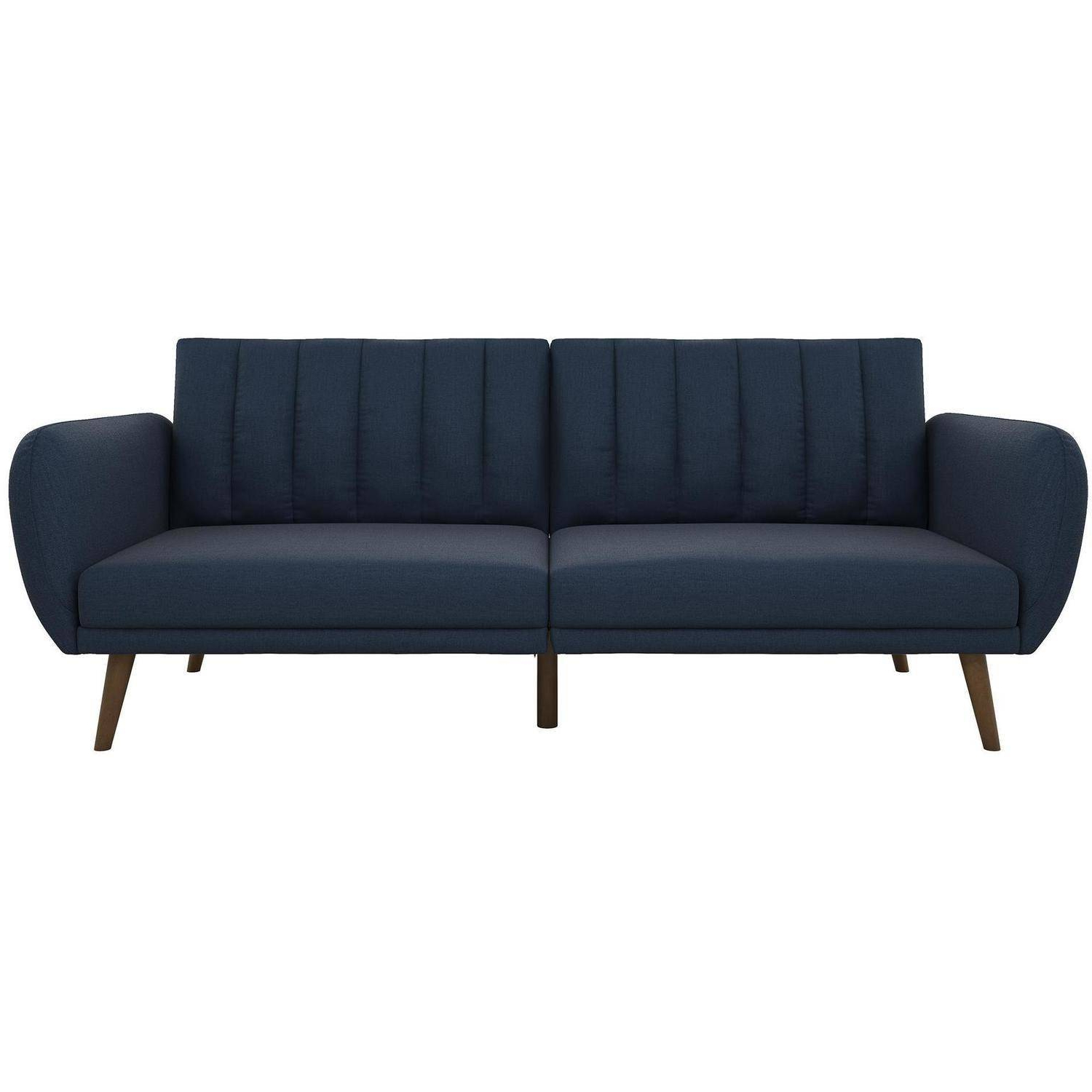 Novogratz Brittany Linen Futon Couch, Multiple Colors Within Trendy Brittany Sectional Futon Sofas (View 5 of 20)