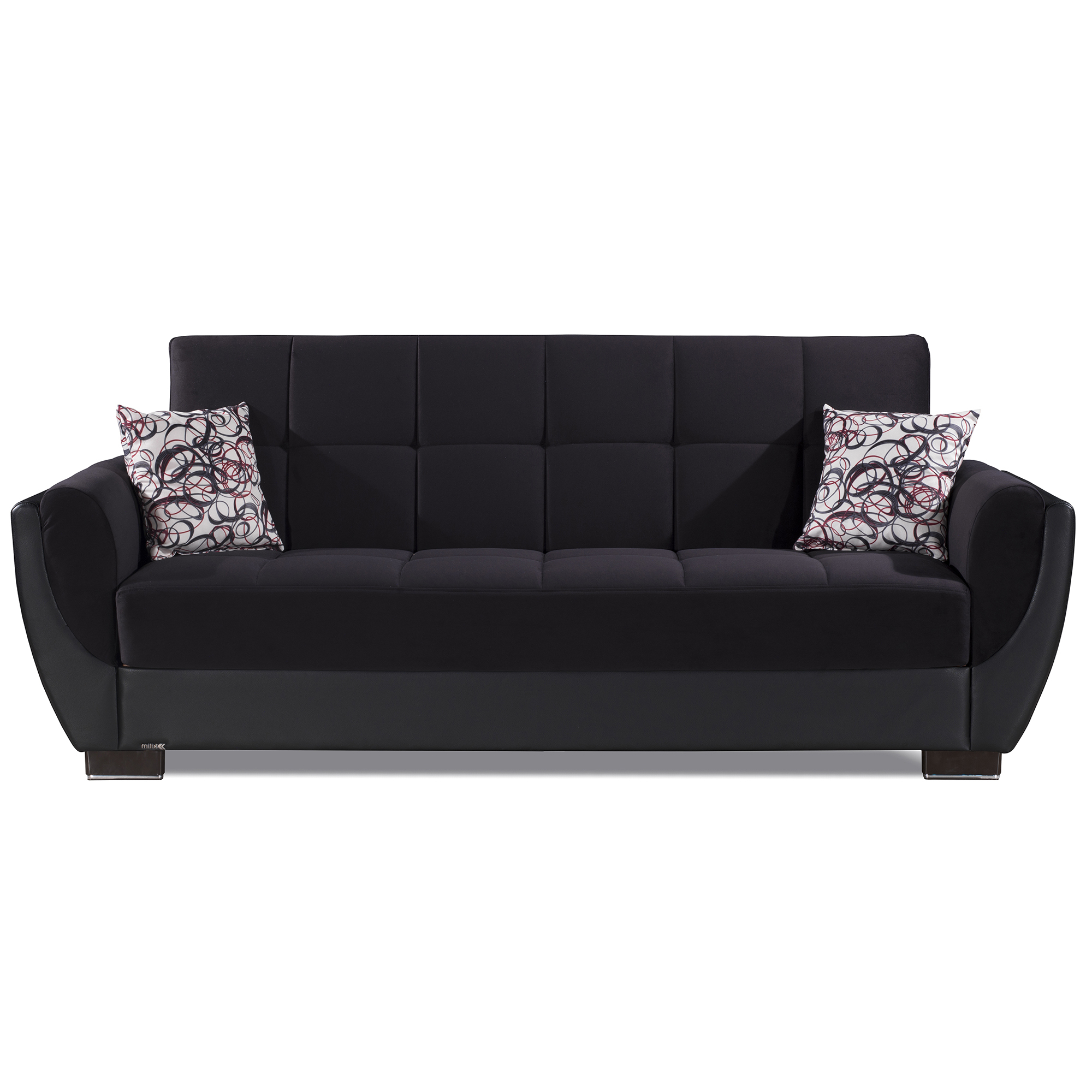 Ottomanson Armada Air Fabric Upholstery Sleeper Sofa Bed In Most Recently Released Prato Storage Sectional Futon Sofas (View 6 of 20)