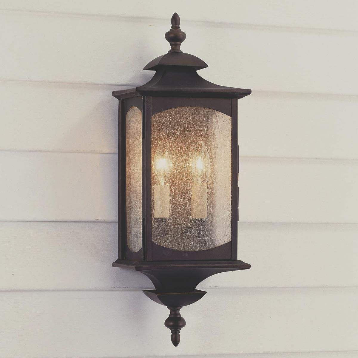 Outdoor For Well Known Robertson 2 – Bulb Seeded Glass Outdoor Wall Lanterns (View 17 of 20)