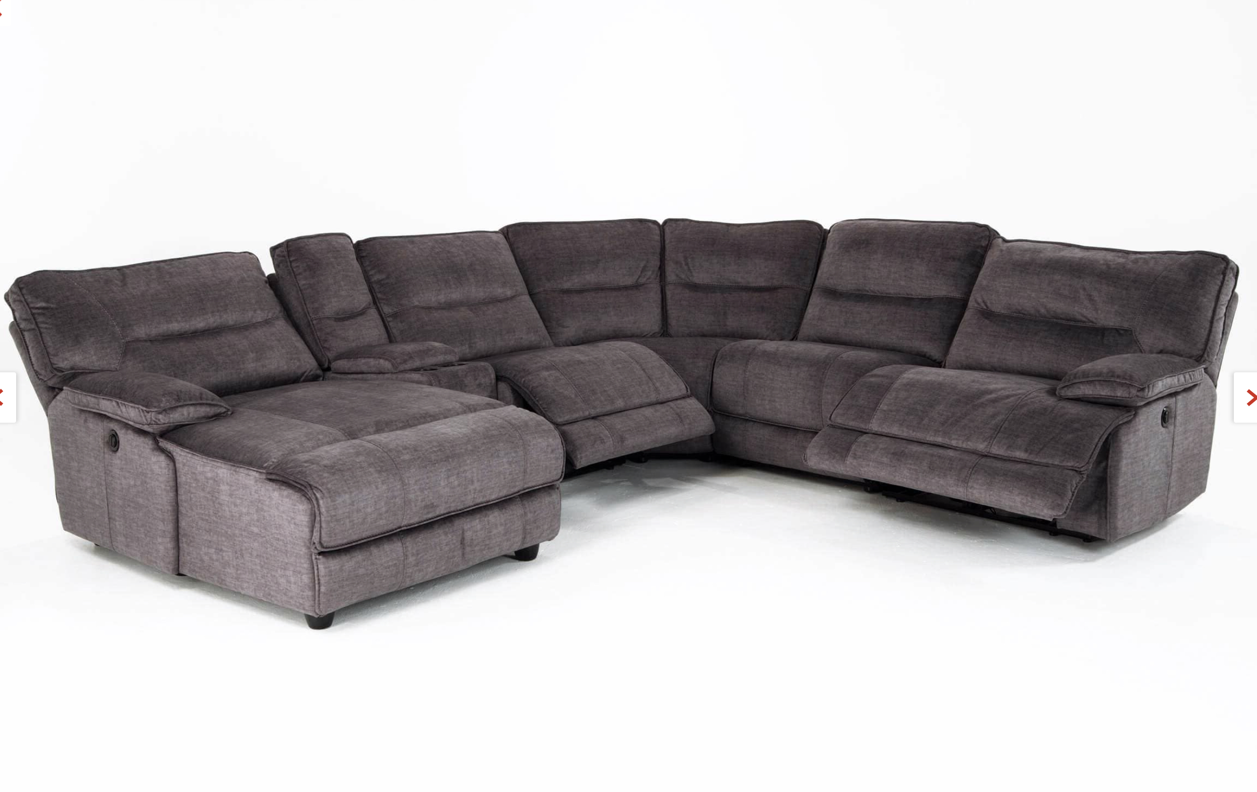 Pacifica Gray 6 Piece Power Reclining Left Arm Facing Pertaining To Latest Pacifica Gray Power Reclining Sofas (View 2 of 20)