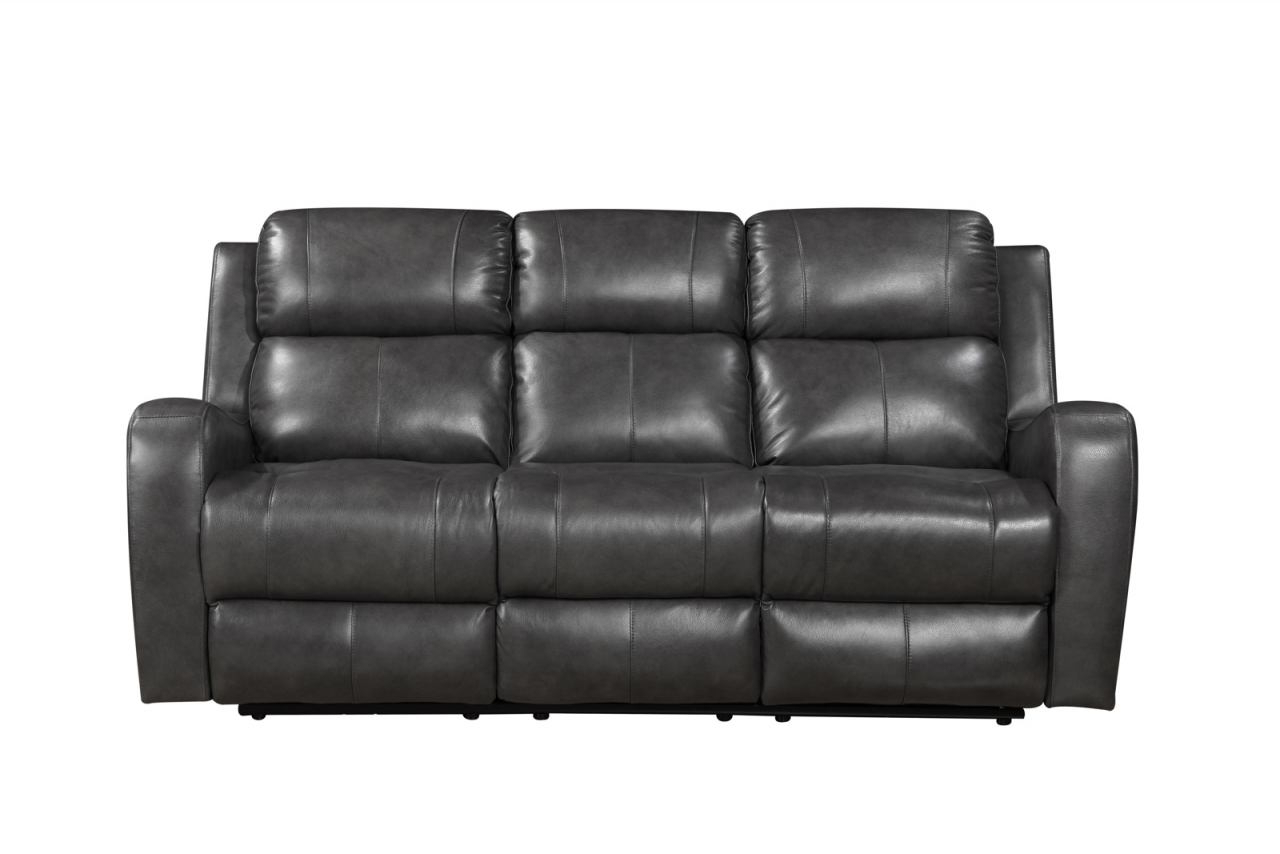 Pacifica Gray Power Reclining Sofas Throughout Preferred Leather Italia Shae Cortana Power Sofa In Gray 1555 E (View 5 of 20)