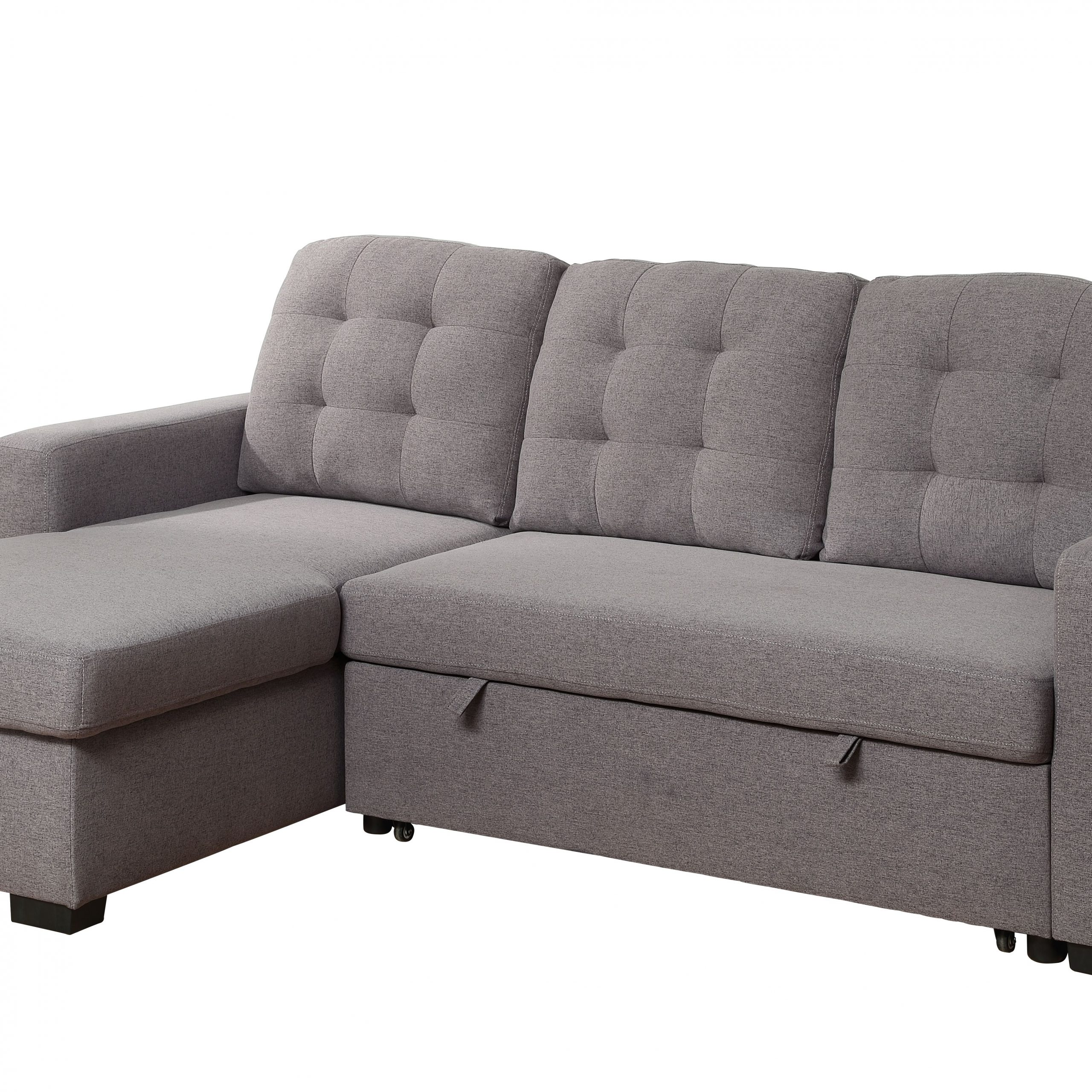 Palisades Reversible Small Space Sectional Sofas With Storage Pertaining To Widely Used Chambord Reversible Storage Sleeper Sectional Sofa In Gray (View 13 of 20)