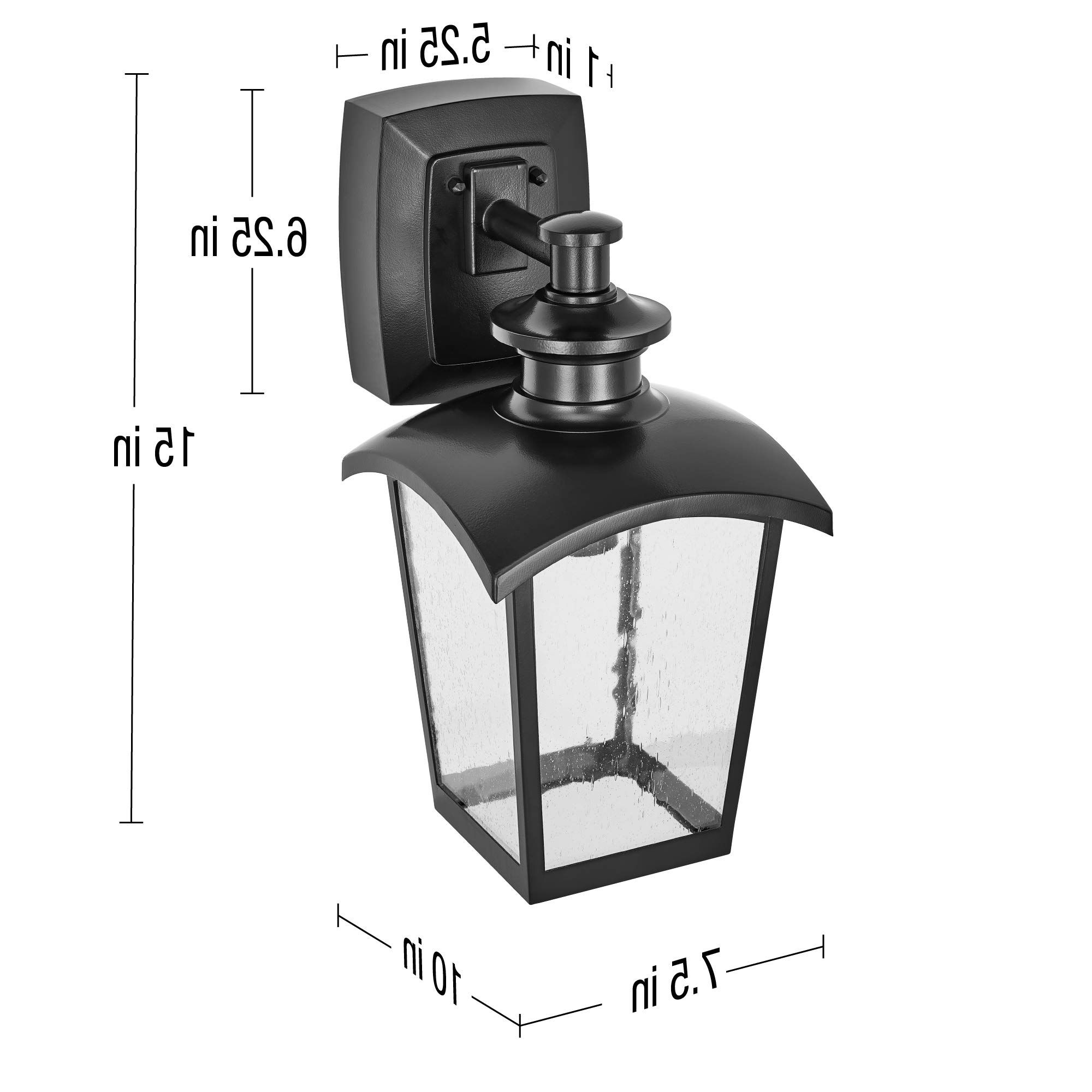 Palma Black/clear Seeded Glass Outdoor Wall Lanterns Intended For Most Up To Date Home Luminaire 31703 Spence 1 Light Outdoor Wall Lantern (View 19 of 20)
