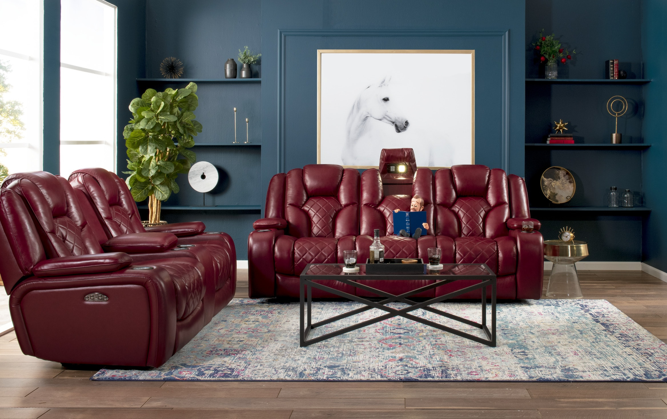 Panther Fire Leather Dual Power Reclining Sofa – Latest Intended For Most Recent Panther Fire Leather Dual Power Reclining Sofas (View 3 of 20)