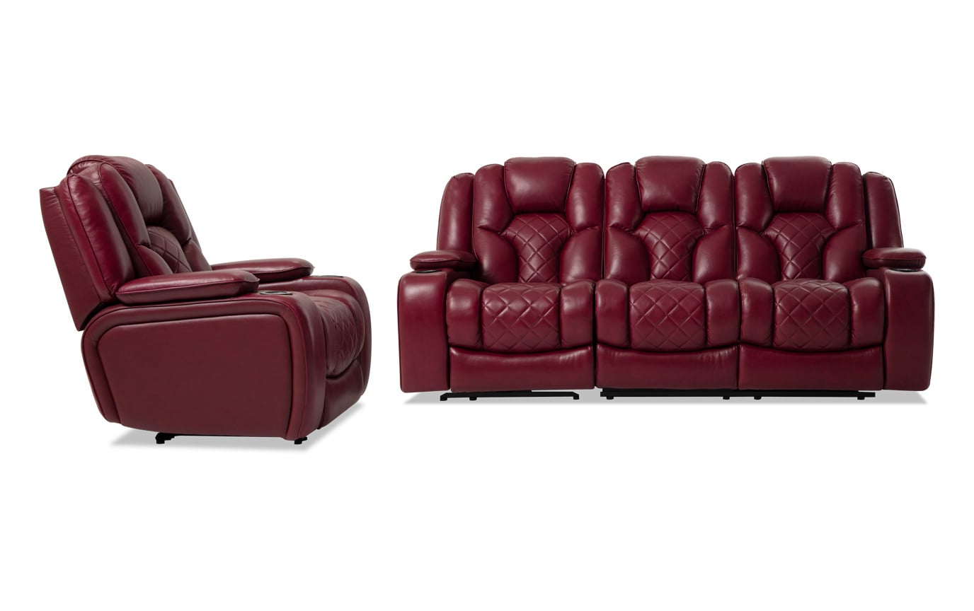 Panther Fire Leather Dual Power Reclining Sofas With Well Liked Panther Fire Leather Dual Power Reclining Sofa – Latest (View 2 of 20)