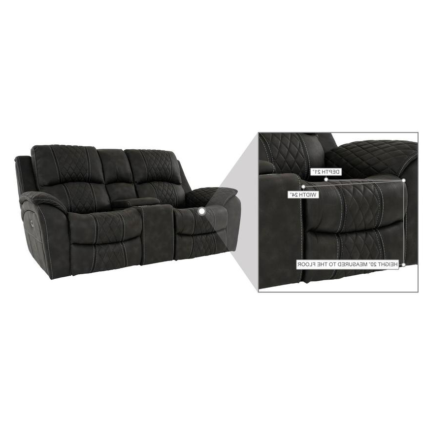 Panther Leather Power Reclining Sofa Console Loveseat In Most Popular Panther Fire Leather Dual Power Reclining Sofas (View 13 of 20)