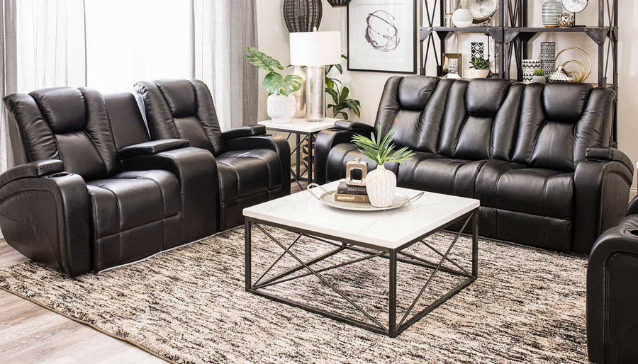 Panther Leather Power Reclining Sofa Console Loveseat In Preferred Panther Fire Leather Dual Power Reclining Sofas (View 17 of 20)