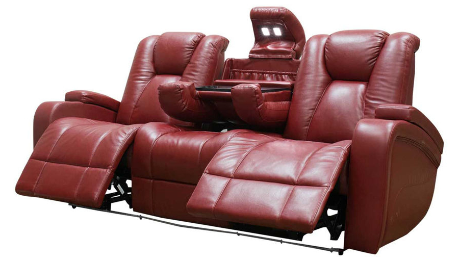 Panther Leather Power Reclining Sofa Console Loveseat Regarding 2019 Panther Fire Leather Dual Power Reclining Sofas (View 9 of 20)