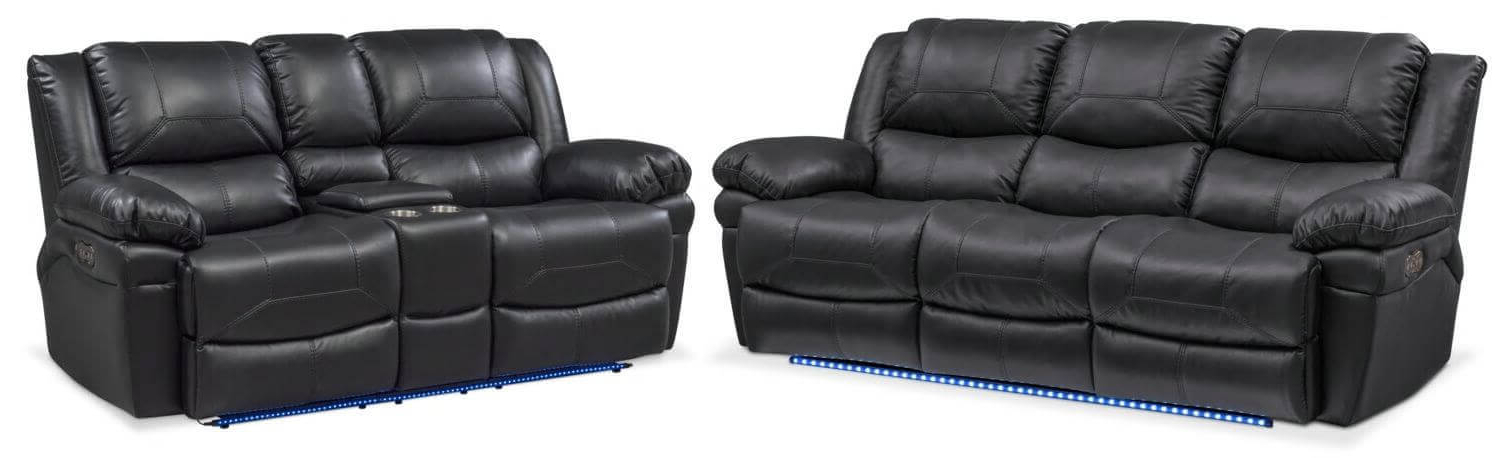 Panther Leather Power Reclining Sofa Console Loveseat With Regard To Latest Panther Fire Leather Dual Power Reclining Sofas (View 16 of 20)