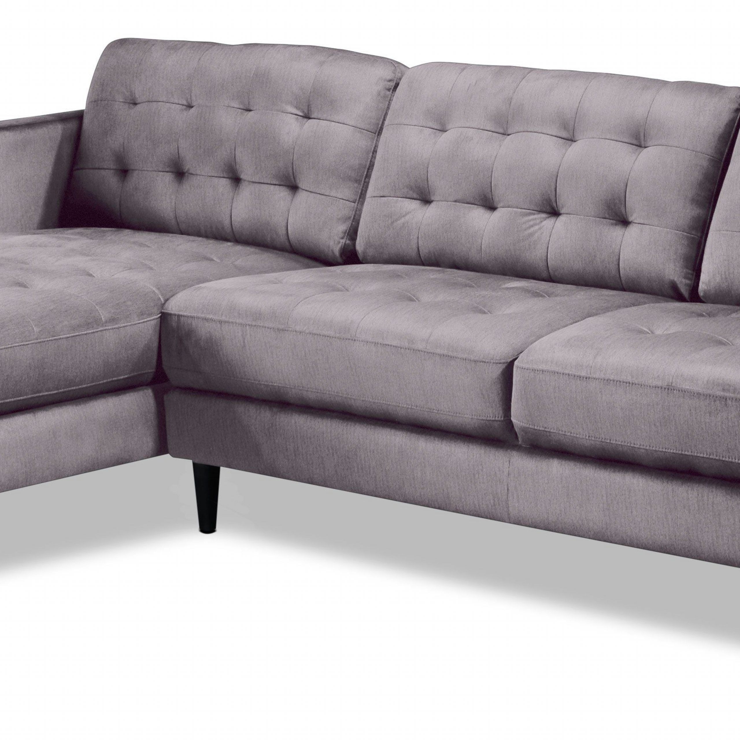 Paragon 2 Piece Sectional With Right Facing Chaise – Light In Newest Dulce Mid Century Chaise Sofas Light Gray (View 3 of 20)