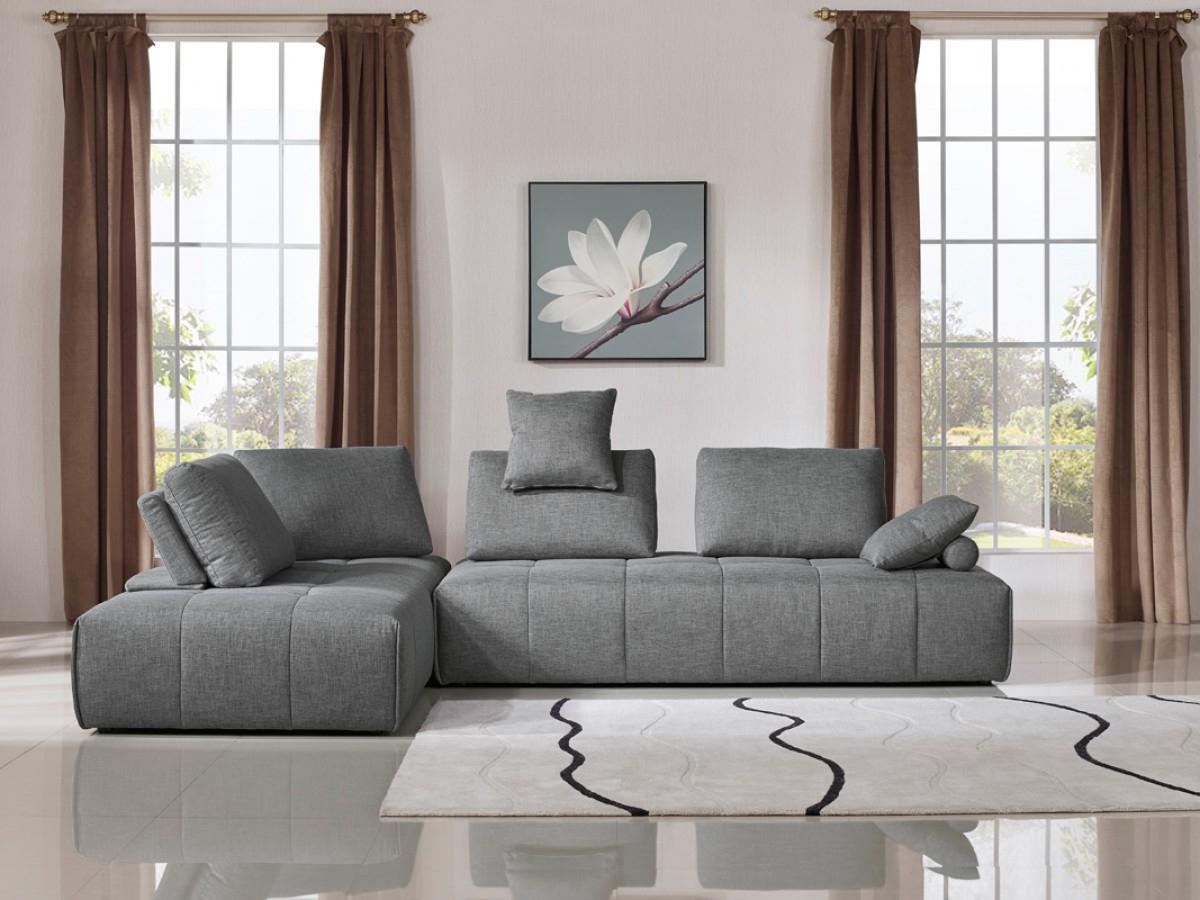Paul Modular Sectional Sofas Blue For Recent Divani Casa Edgar Modern Grey Fabric Modular Sectional Sofa (View 9 of 20)