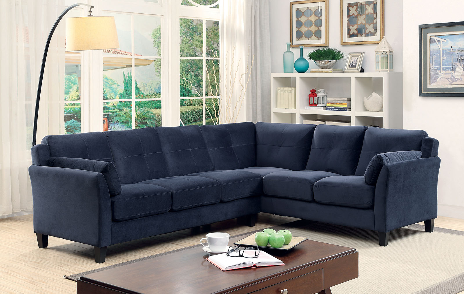 Paul Modular Sectional Sofas Blue In 2018 6368nv Nvay Blue Contemporary Sectional Sofa Furniture Of (View 3 of 20)