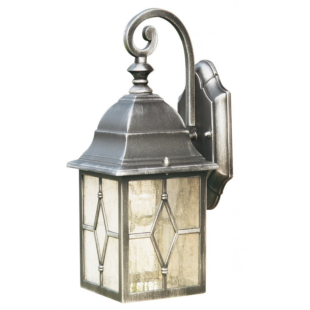 Payeur Hammered Glass Outdoor Wall Lanterns In 2018 Searchlight Electric Genoa 1642 Outdoor Wall Lantern (View 10 of 20)
