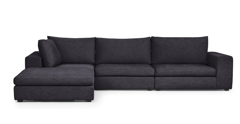 Petrel Gray Gaba Right Facing Modular Fabric Sectional Within Most Recent Florence Mid Century Modern Right Sectional Sofas (View 14 of 20)