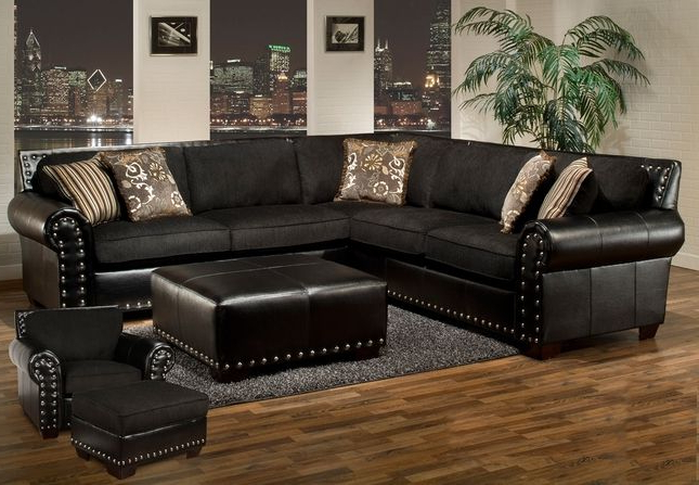 Pin On Home Regarding Popular 2pc Polyfiber Sectional Sofas With Nailhead Trims Gray (View 14 of 20)