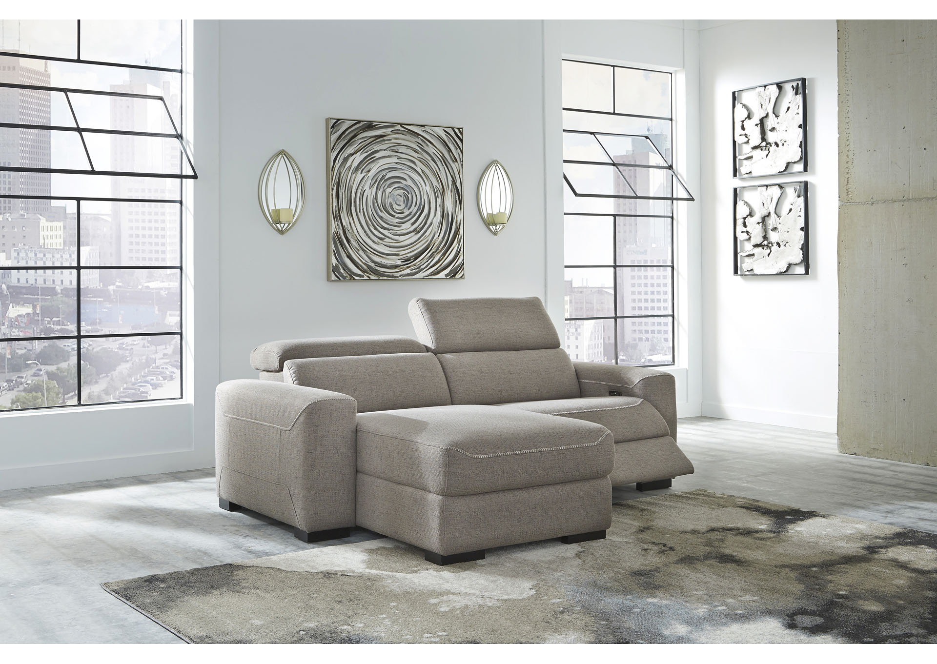 Popular 2pc Maddox Left Arm Facing Sectional Sofas With Chaise Brown Regarding Mabton Gray Right Arm Facing Power Reclining 2 Piece (View 13 of 20)