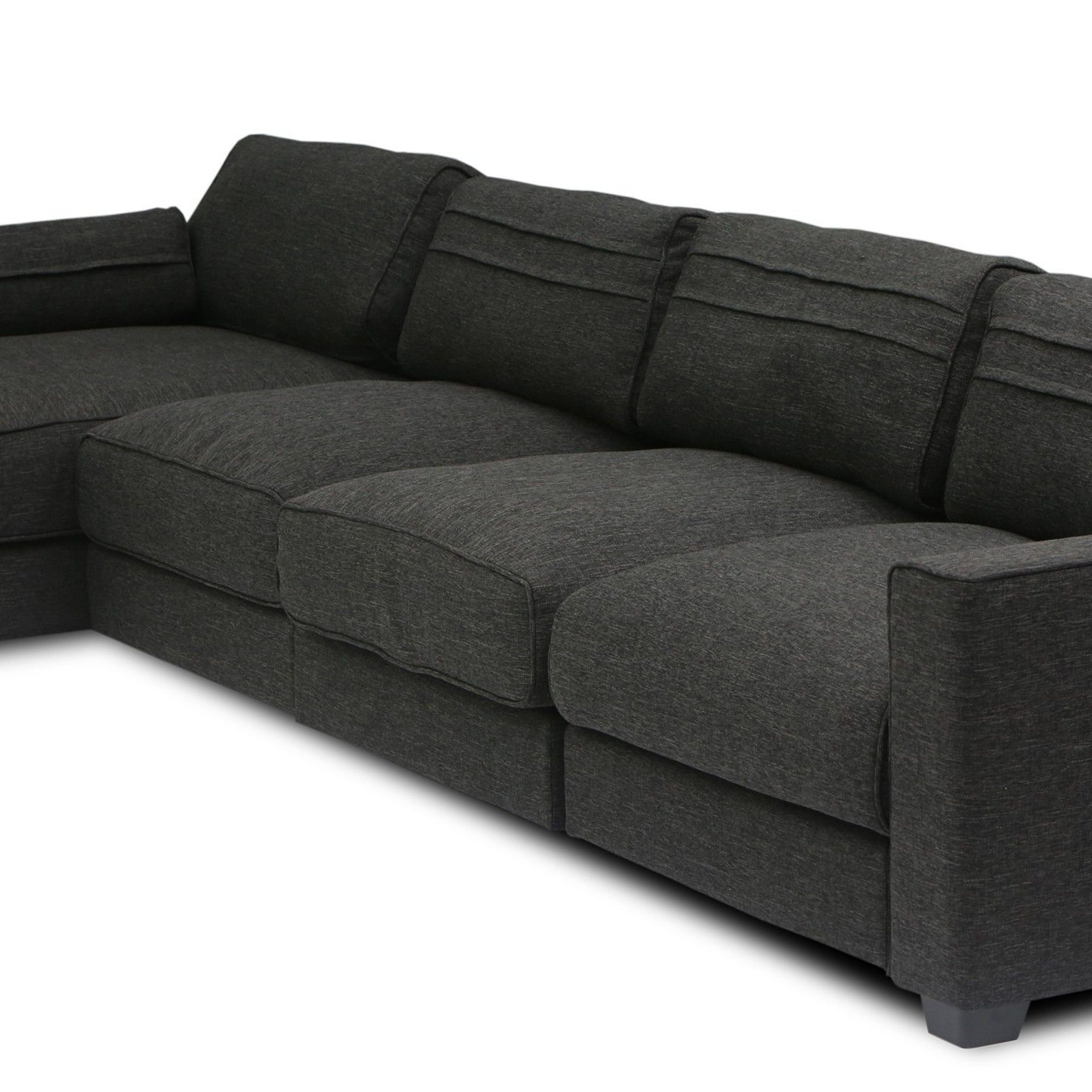 Popular Alani Mid Century Modern Sectional Sofas With Chaise With Regard To Vani Modular 3 Seat Right Sectional With Chaise (View 11 of 20)