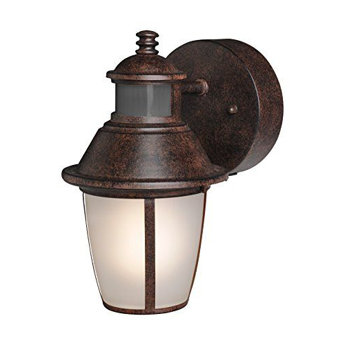 Popular Brinks 7234bz Lantern Oil Rubbed Bronze With Motion Light Regarding Verne Oil Rubbed Bronze Beveled Glass Outdoor Wall Lanterns (View 13 of 20)