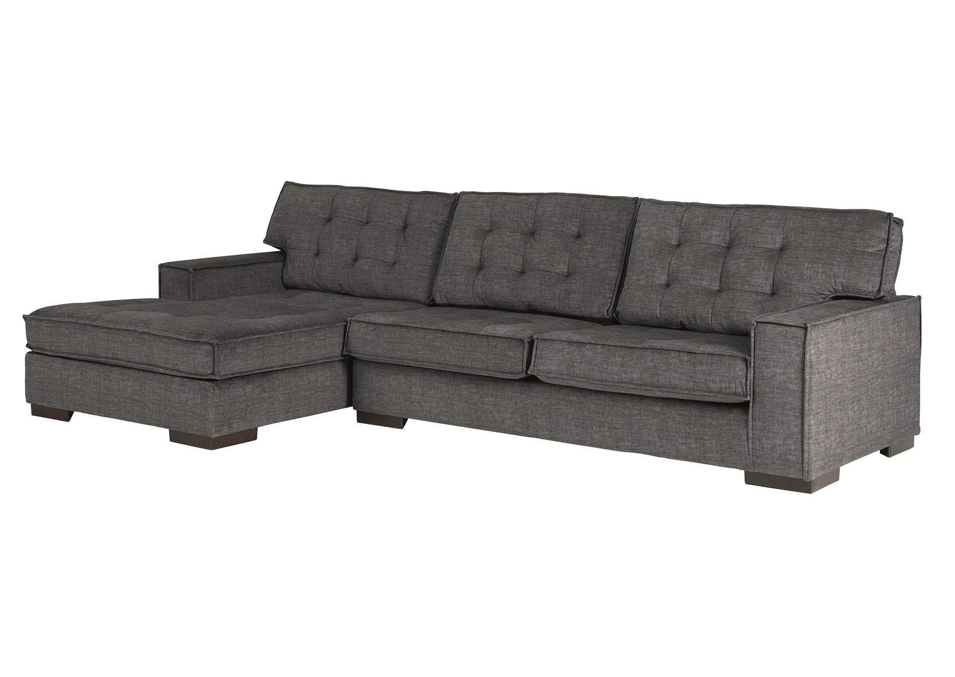 Popular Coulee Point 2 Piece Sectional With Chaise Ashley Within 2pc Burland Contemporary Sectional Sofas Charcoal (View 4 of 20)