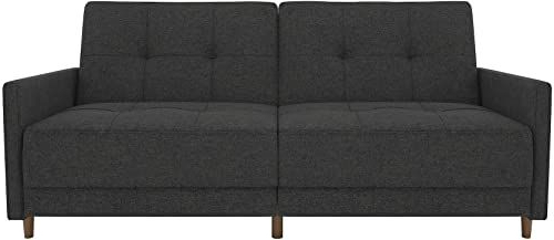 Popular Debbie Coil Sectional Futon Sofas In New Dhp Andora Coil Futon Sofa Bed Couch With Mid Century (View 1 of 20)