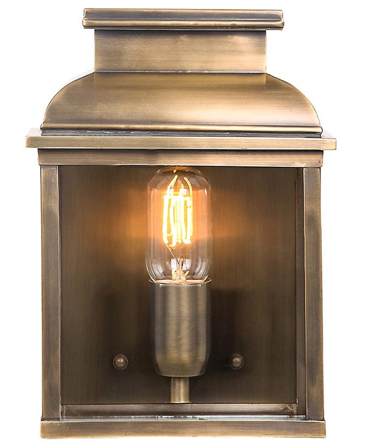 Popular Elstead Old Bailey 1 Light Solid Brass Outdoor Wall Within Gillett Outdoor Wall Lanterns (View 18 of 20)