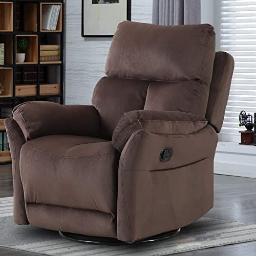 Popular Forte Gray Power Reclining Sofas Within New Canmov Swivel Rocker Recliner Chair, Manual Reclining (View 12 of 20)
