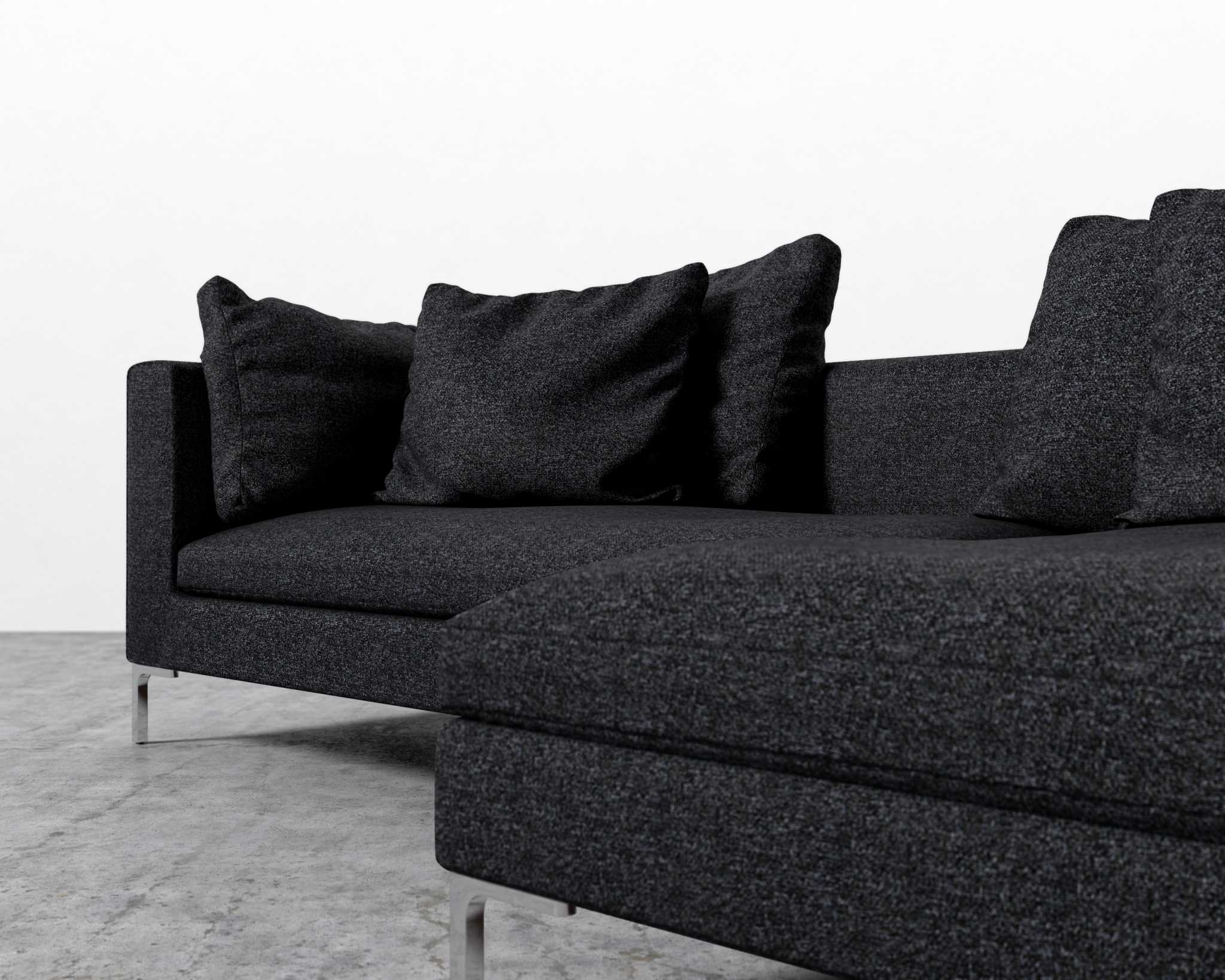 Popular Gneiss Modern Linen Sectional Sofas Slate Gray In Hugo Sofa Sectional (View 11 of 20)