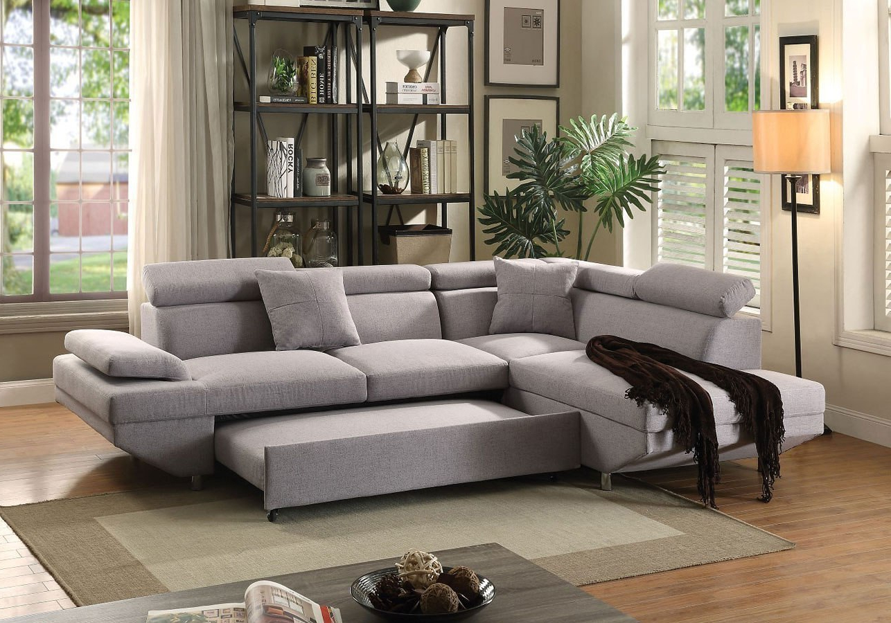 Popular Jemima Left Chaise Sectional W/ Sleeper Acme Furniture, 1 Within Hannah Left Sectional Sofas (View 2 of 20)