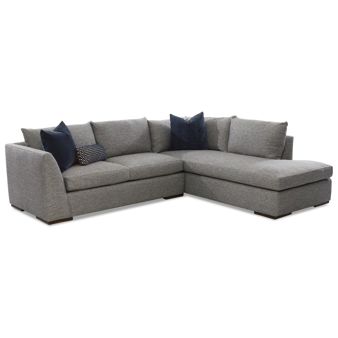 Popular Klaussner Flagler Contemporary 2 Piece Chaise Sofa With Throughout 2pc Burland Contemporary Chaise Sectional Sofas (View 6 of 20)