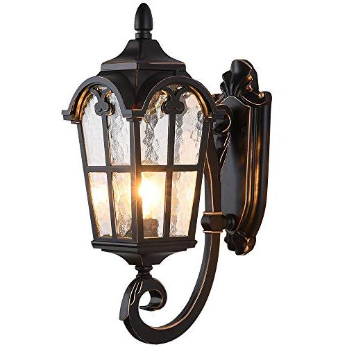 Popular Lonedruid Outdoor Wall Light Fixtures Black Roman  (View 16 of 20)