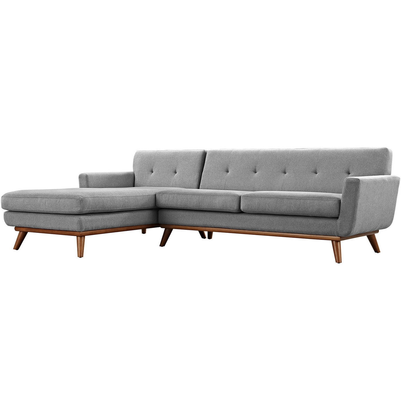 Popular Mid Century Modern Engage Right Facing Chaise Sectional Throughout Alani Mid Century Modern Sectional Sofas With Chaise (View 19 of 20)