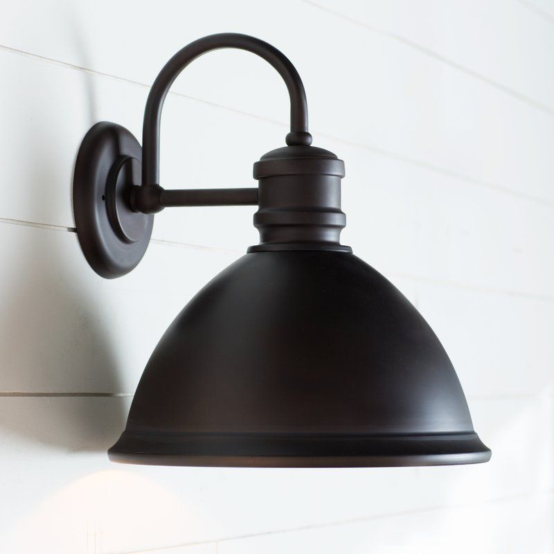 Popular Ranbir Oil Burnished Bronze Outdoor Barn Lights With Dusk To Dawn In Birch Lane™ Heritage Windham Outdoor Barn Light & Reviews (View 8 of 20)