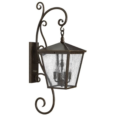 Popular Seeded Glass Outdoor Wall Light Bronze Hinkley At Regarding Chelston Seeded Glass Outdoor Wall Lanterns (View 16 of 20)