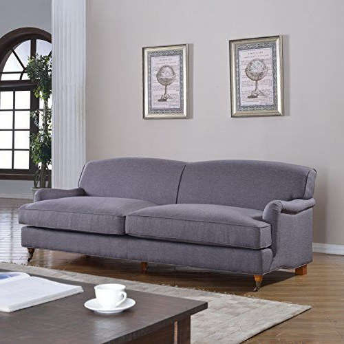 Popular Setoril Modern Sectional Sofa Swith Chaise Woven Linen With Regard To Mid Century Grey Modern Sophisticated Large Linen Fabric (View 11 of 20)