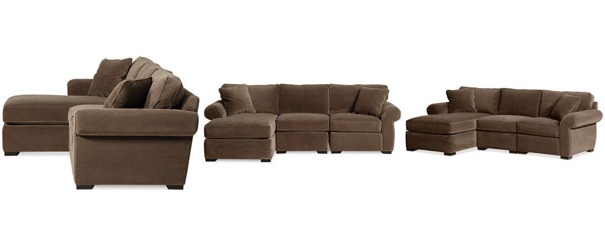 Popular Trevor Fabric 3 Piece Chaise Sectional Sofa – Furniture Regarding Trevor Sofas (View 20 of 20)