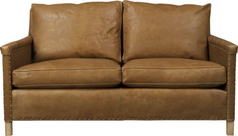 """Popular Trevor Sofas Inside Trevor 72"""" Leather Apartment Sofa (View 13 of 20)"""