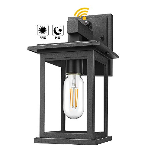 Popular Upgrade Dusk To Dawn Sensor Outdoor Wall Lanterns Regarding Ballina Matte Black Outdoor Wall Lanterns With Dusk To Dawn (View 2 of 20)