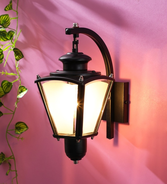 Popular Walland Black Outdoor Wall Lanterns Within Buy Exterior Black Metal Outdoor Wall Lightsuperscape (View 10 of 20)