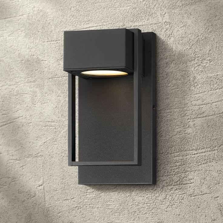 Possini Euro Design Modern Outdoor Wall Light Fixture Led Throughout Latest Sheard Textured Black 2 – Bulb Wall Lanterns (View 19 of 20)