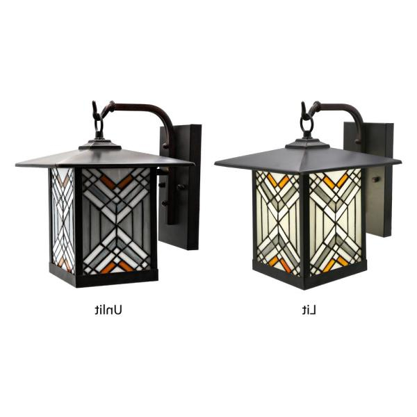 Powell Beveled Glass Outdoor Wall Lanterns Intended For Most Up To Date Stained Glass Outdoor Lighting – Outdoor Lighting Ideas (View 16 of 20)