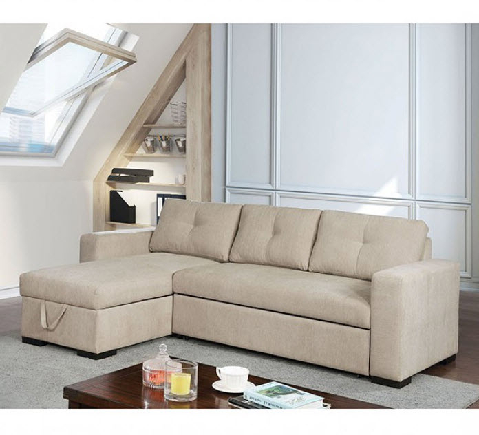 Prato Storage Sectional Futon Sofas In Famous Hakine Storage Chaise Pull Out Bed Sectional Sofa (View 20 of 20)