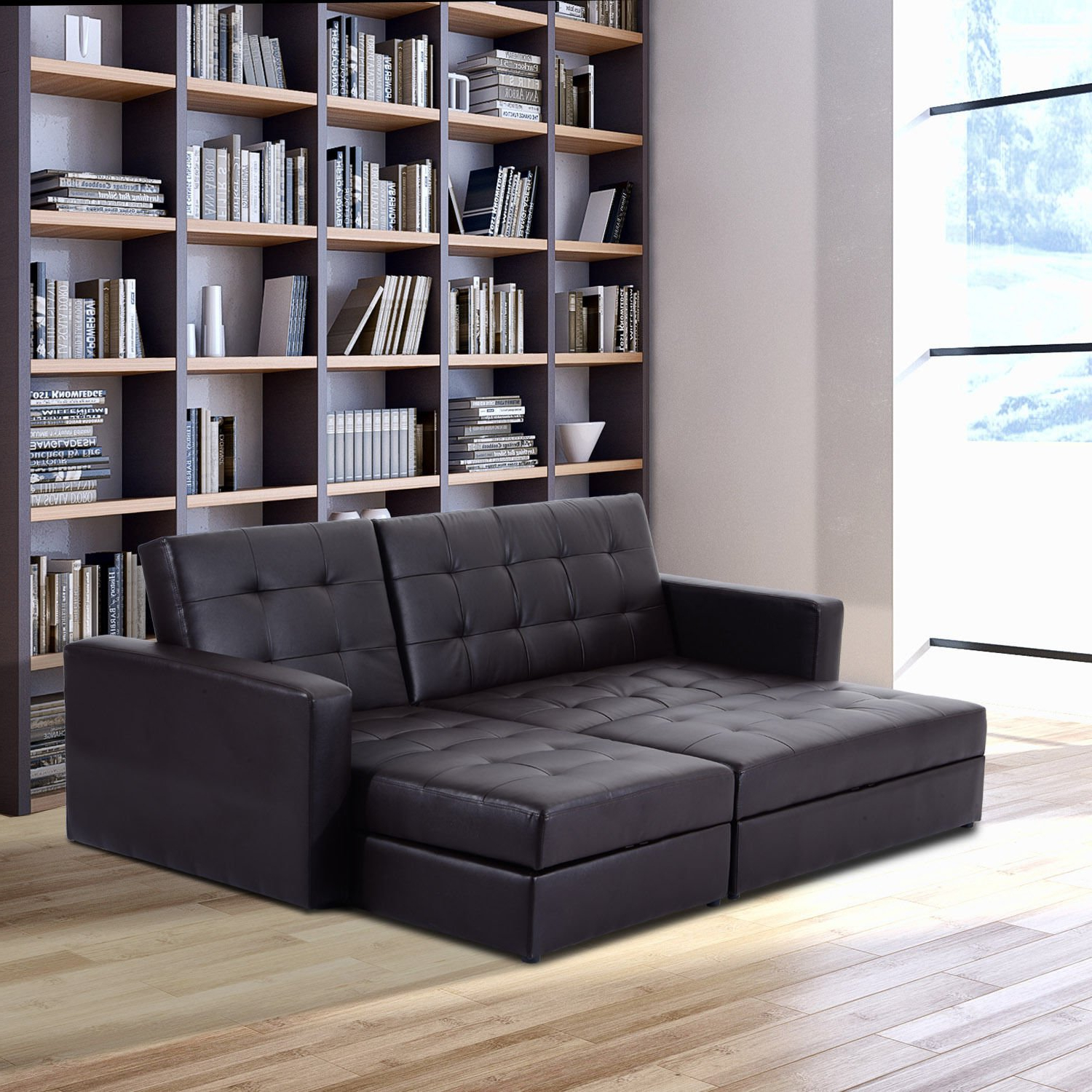 Prato Storage Sectional Futon Sofas In Most Recent Storage+sleeper+couch+sofa+bed – Simply Style (View 11 of 20)