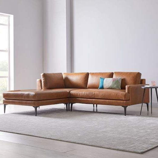 Preferred Andes Leather 3 Piece Chaise Sectional (View 9 of 20)