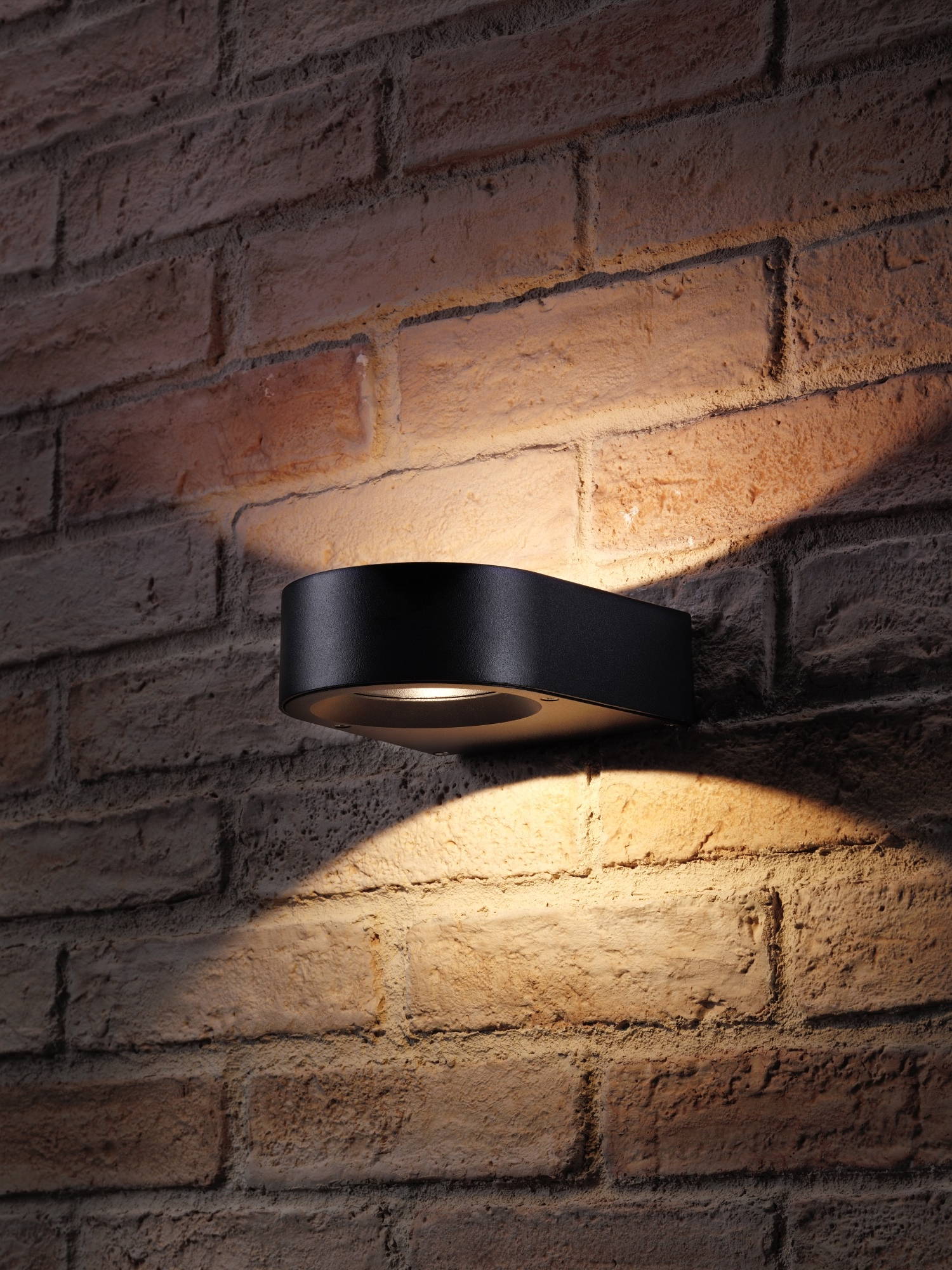 Preferred Auraglow Black Indoor Outdoor Up Down Wall Light Warm In Vernie Black Integrated Led Outdoor Bulkhead Lights (View 17 of 20)