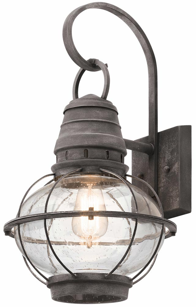 Preferred Brookland Outdoor Wall Lanterns Within Kichler Bridge Point 1 Light Large Outdoor Wall Lantern (View 11 of 20)