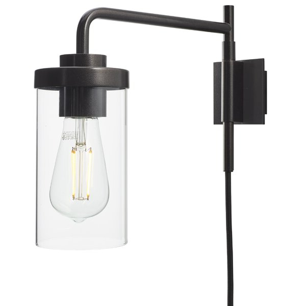 Preferred Cantrall 8'' H Outdoor Armed Sconces In Gracie Oaks Grandin 1 – Light Plug In Armed Sconce (View 1 of 20)