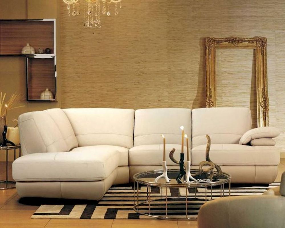 Preferred Contemporary Beige Leather Sectional Sofa 44l208 8 Inside Beige Sofas (View 1 of 20)
