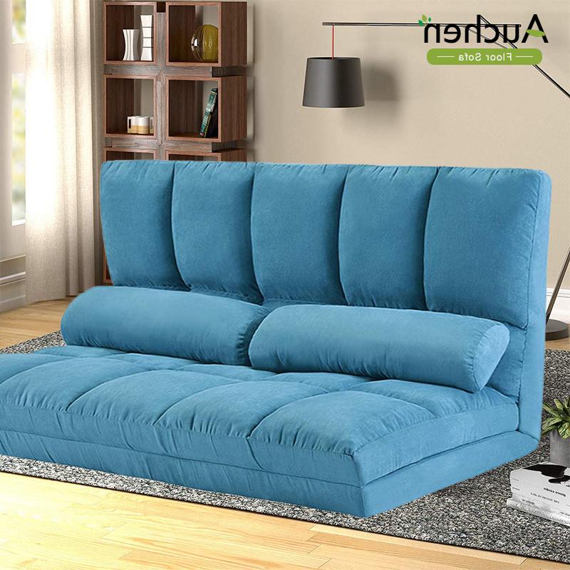 Preferred Easton Small Space Sectional Futon Sofas Inside Auchen® Adjustable Futon Sofa Bed/ Folding Lounge Sofa (View 2 of 20)