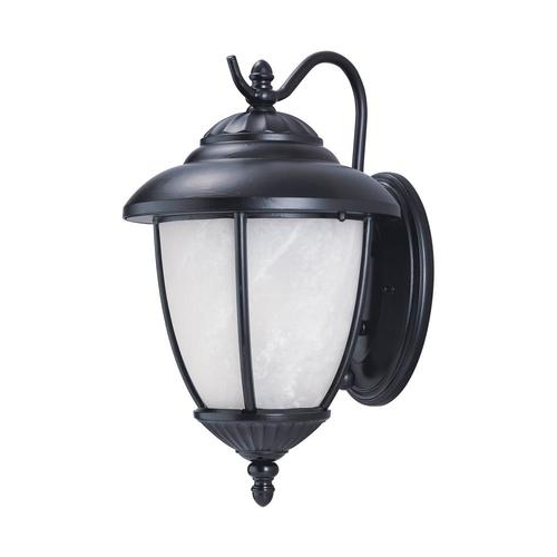 Preferred Feuerstein Black 16'' H Outdoor Wall Lanterns Pertaining To Sea Gull Lighting Yorktown 16 In H Black Medium Base (e  (View 5 of 20)